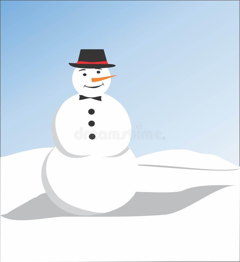 Bambola della neve fotografia stock libera da diritti
