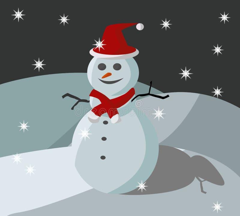 Bambola di natale della neve illustrazione vettoriale