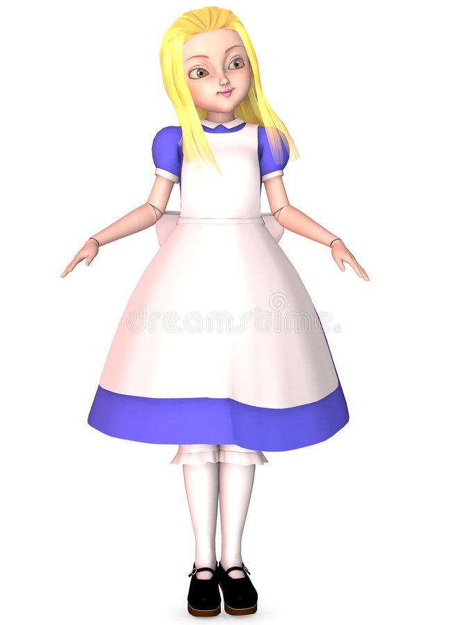 Bambola di Toon illustrazione di stock