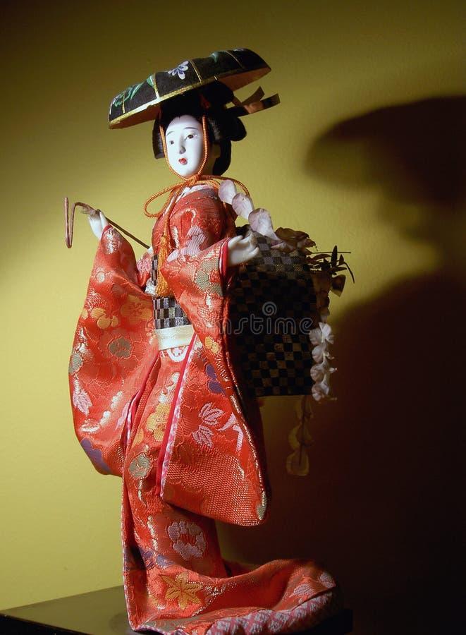 Bambola giapponese immagini stock