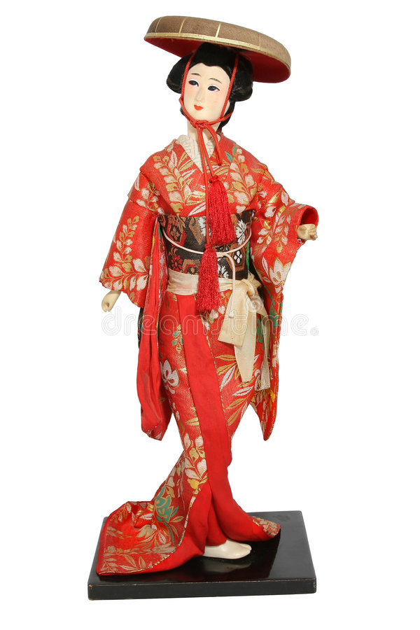 Bambola giapponese. fotografia stock