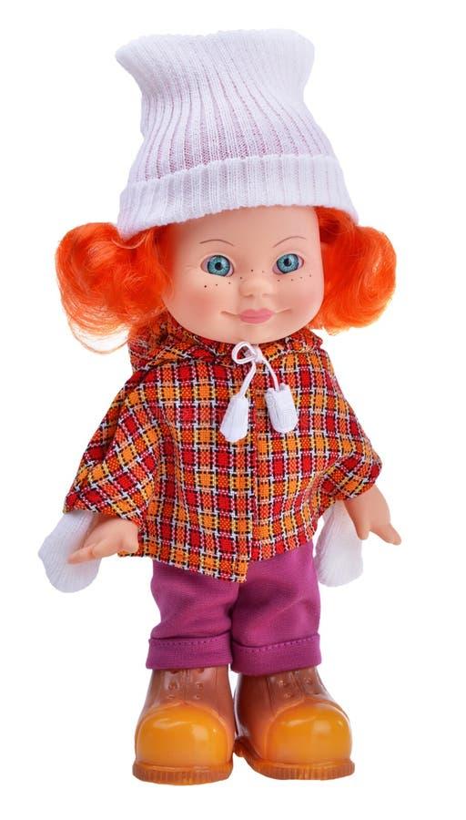 Bambola graziosa della ragazza dello zenzero irlandese immagini stock libere da diritti