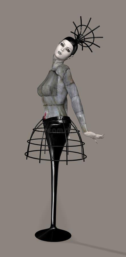 Bambola meccanica illustrazione vettoriale