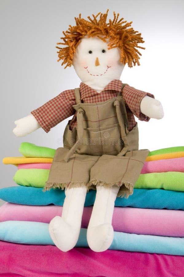 Bambola stracciata fotografie stock