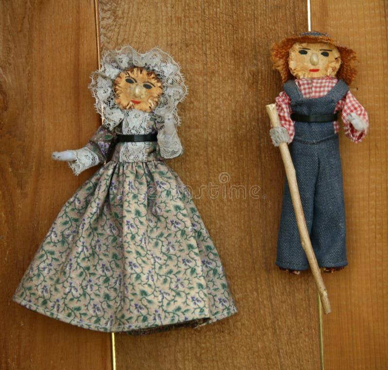 Bambole di Cornhusk dell'annata fotografia stock
