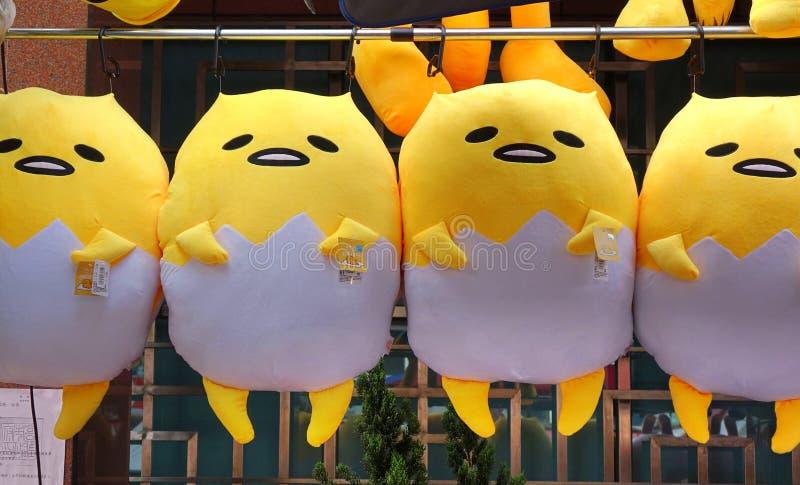 Bambole di Gudetama del giapponese immagini stock libere da diritti