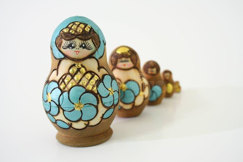 Bambole russe di incastramento fotografie stock libere da diritti
