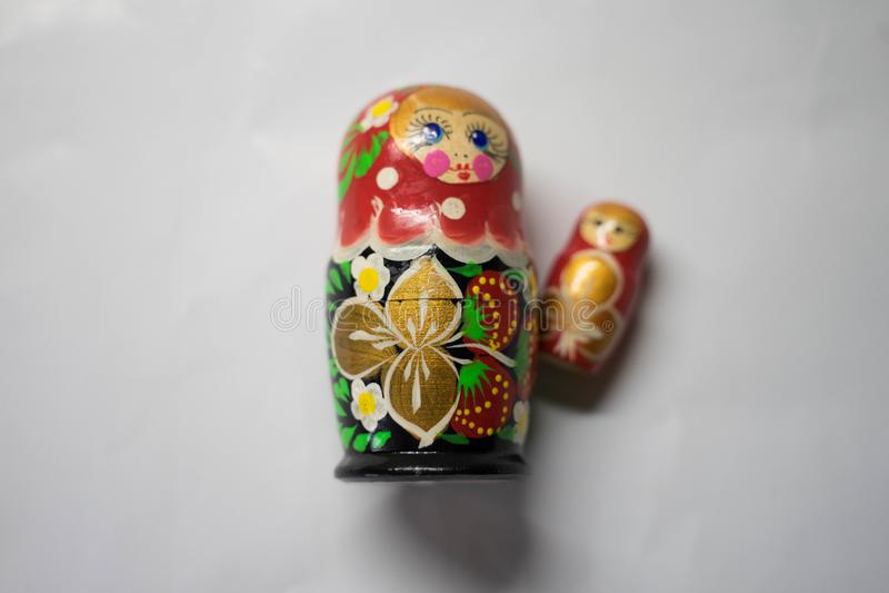 Bambole russe di incastramento - ricordo dalla Russia fotografia stock