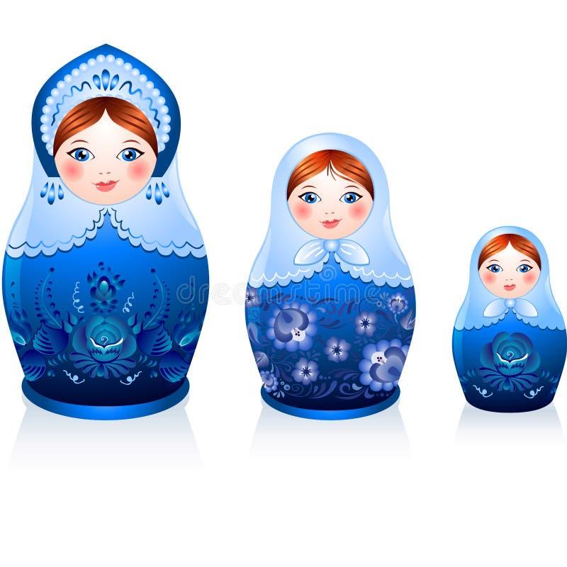 Bambole russe di matryoshka di tradizione royalty illustrazione gratis