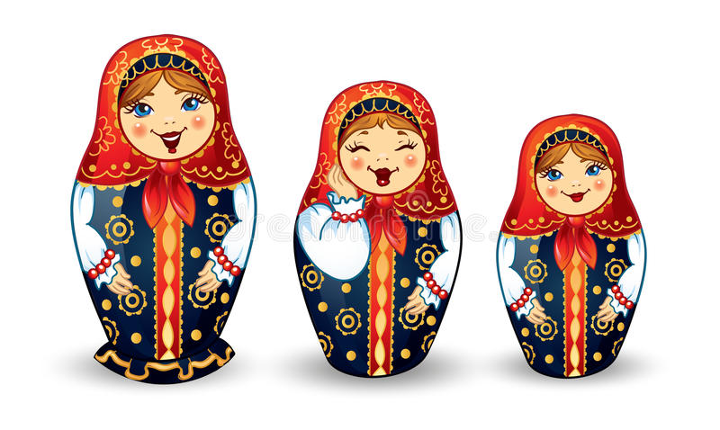 Bambole russe Matrioshka royalty illustrazione gratis