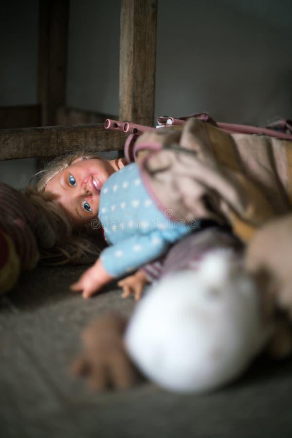 Bambole terrificanti fotografia stock libera da diritti