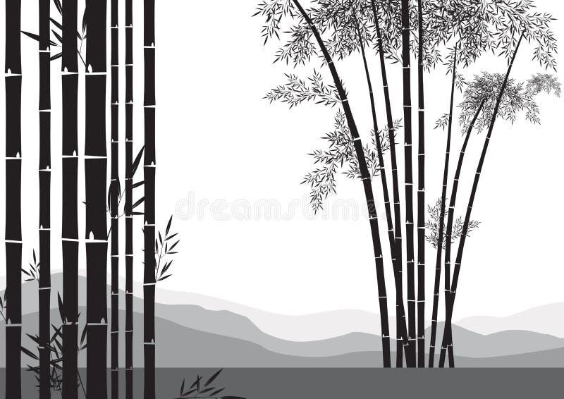 Bamboo вал иллюстрация штока