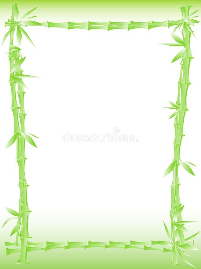 bamboo граница иллюстрация вектора