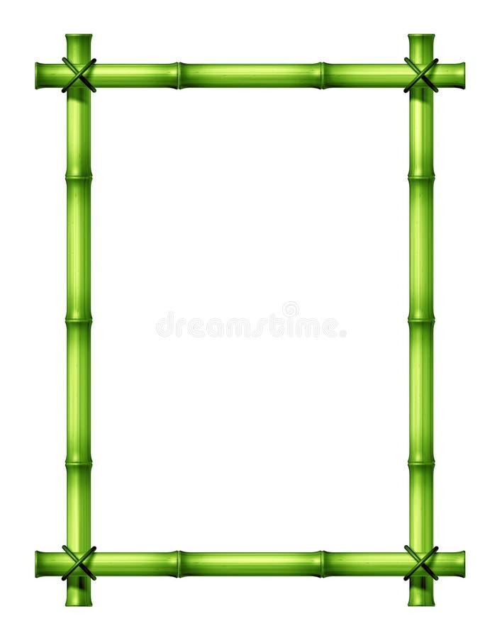 bamboo зеленый цвет рамки иллюстрация вектора