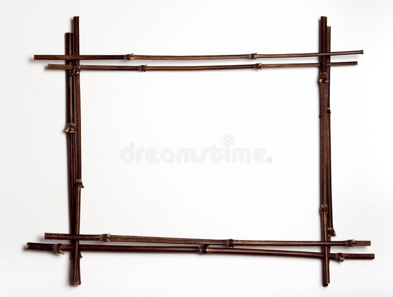 bamboo полюсы w рамки copyspace стоковые фото