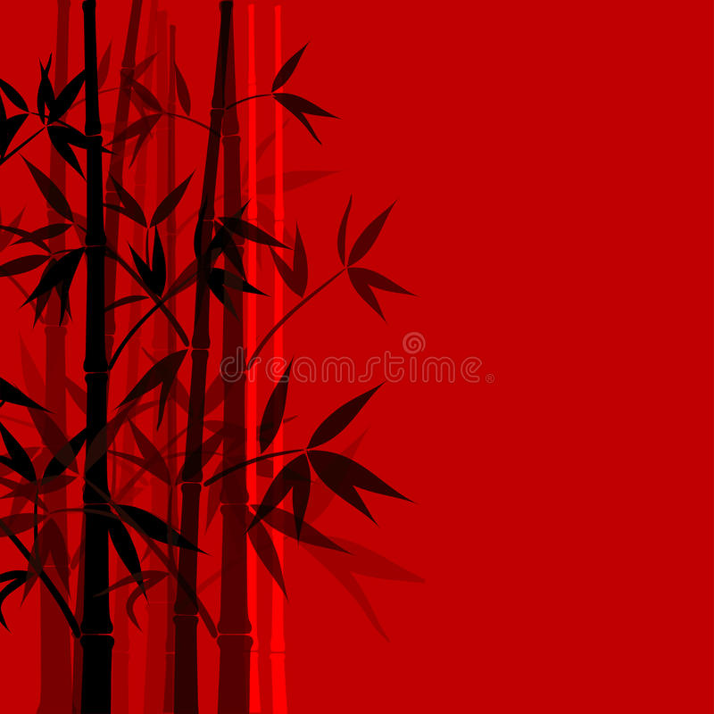 Bamboo предпосылка, вектор иллюстрация штока