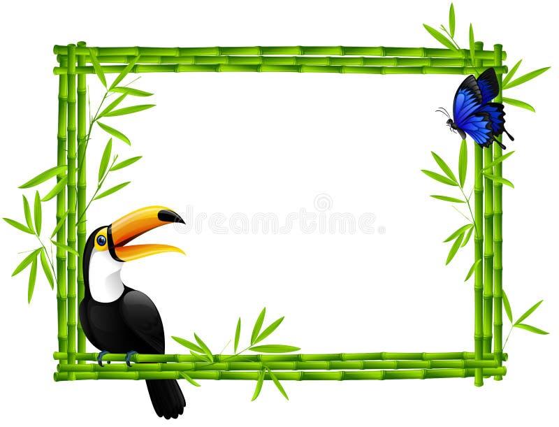 bamboo рамка иллюстрация вектора