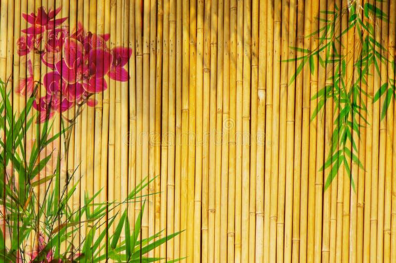 bamboo свежие орхидеи стоковая фотография