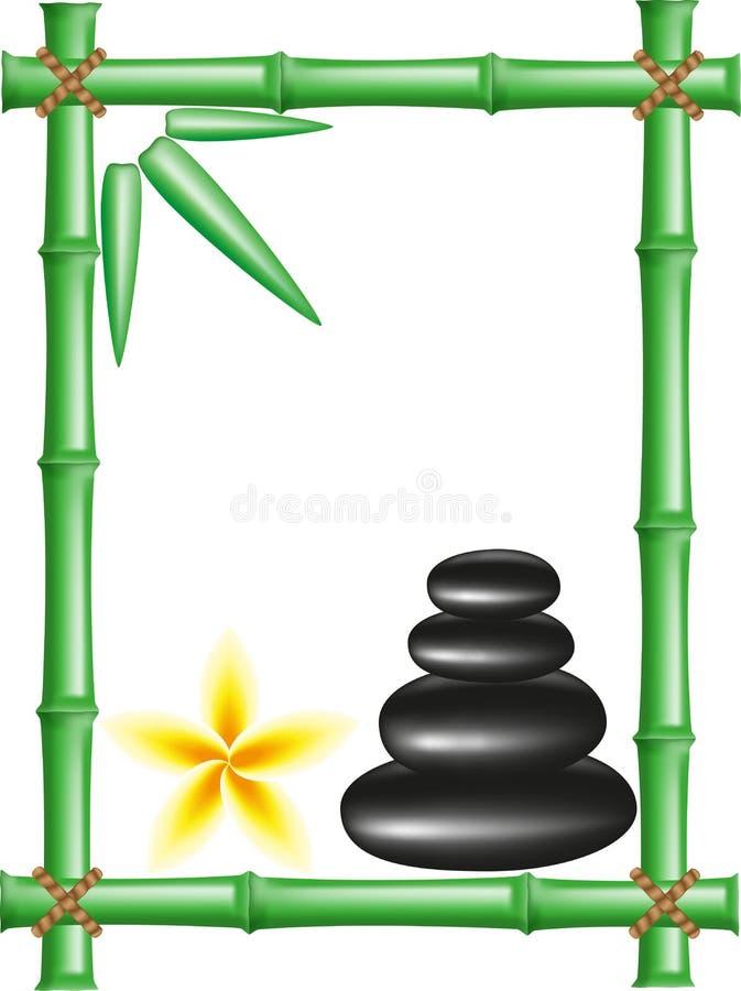 bamboo спа рамки облицовывает Дзэн иллюстрация штока