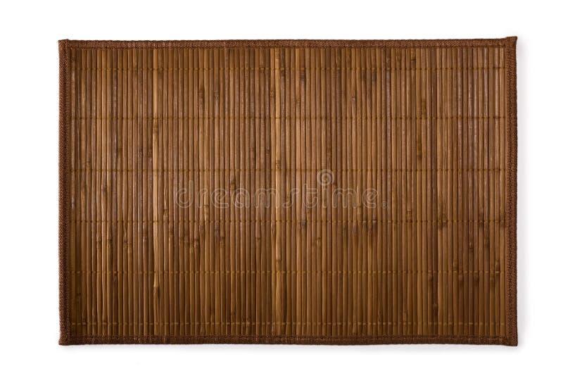 bamboo суши места циновки стоковое фото