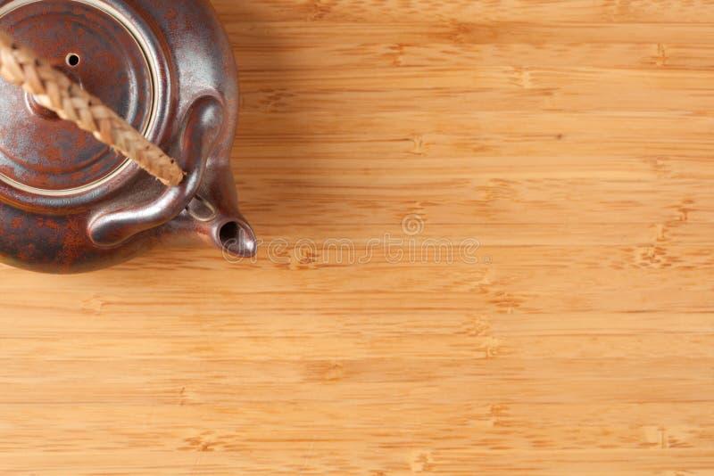 bamboo текстурированный чай поверхности бака стоковая фотография