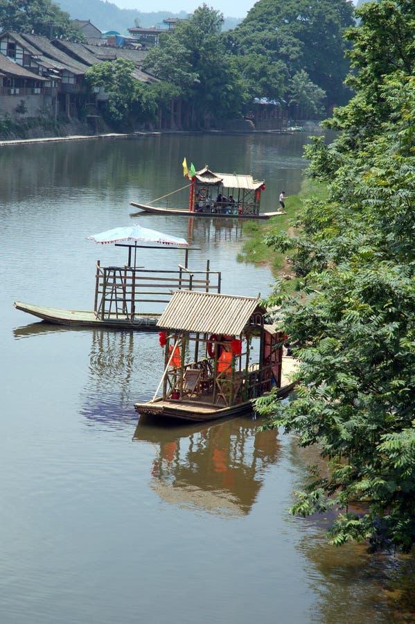 bamboo шлюпка стоковая фотография