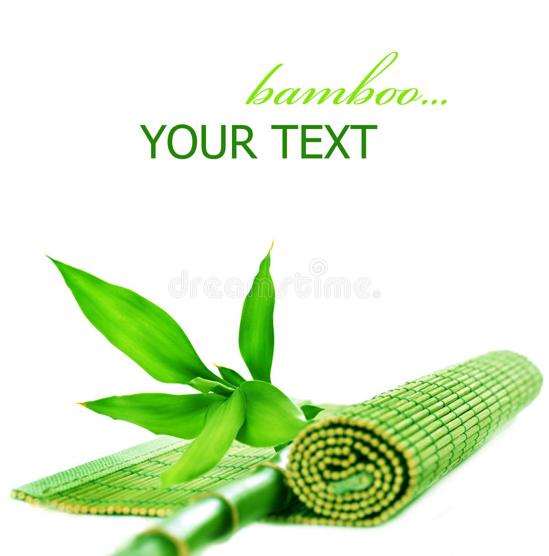 Bamboo. Beautiful Bamboo stem and bamboo mat royalty free stock photos