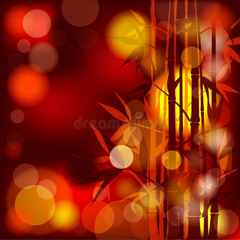 Bamboo abstract background, stock illustration