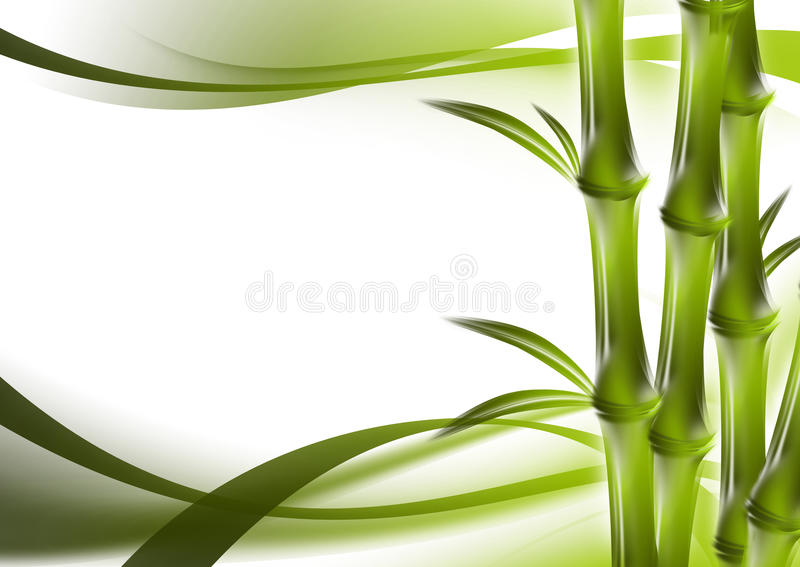 Bamboo and abstract background stock illustration