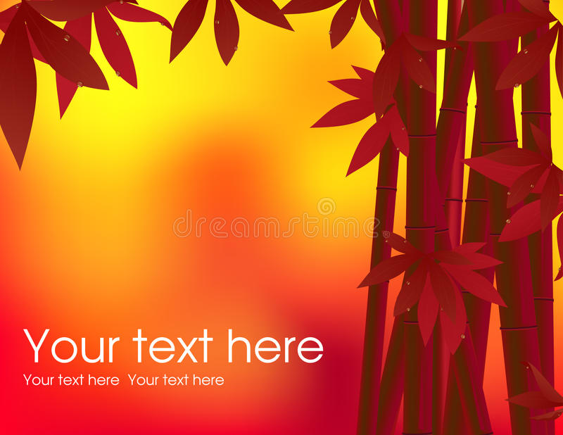 Bamboo background in the sunset royalty free illustration