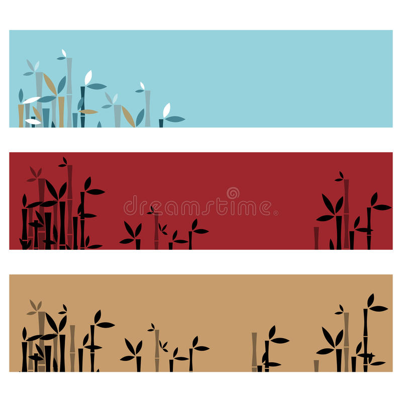 Bamboo banners royalty free illustration
