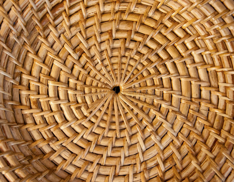 Bamboo basket texture royalty free stock photography