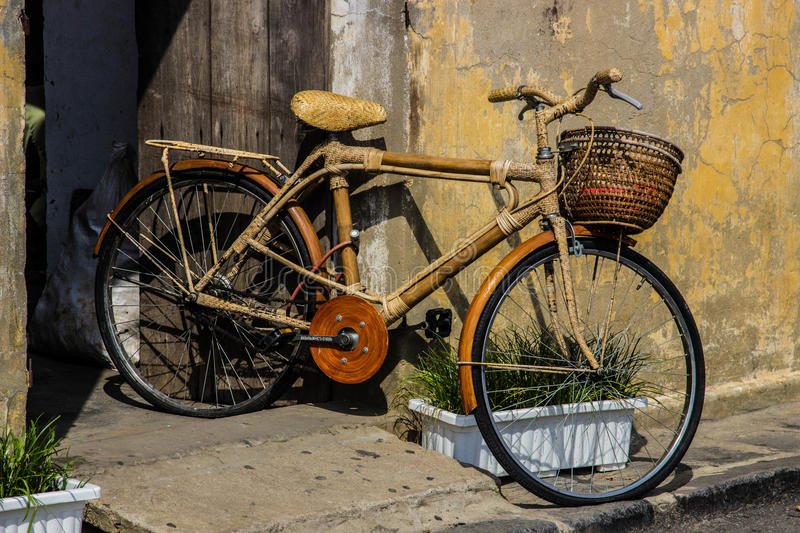 Bamboo Bicycle and in Hoi an, Vietnam royalty free stock images