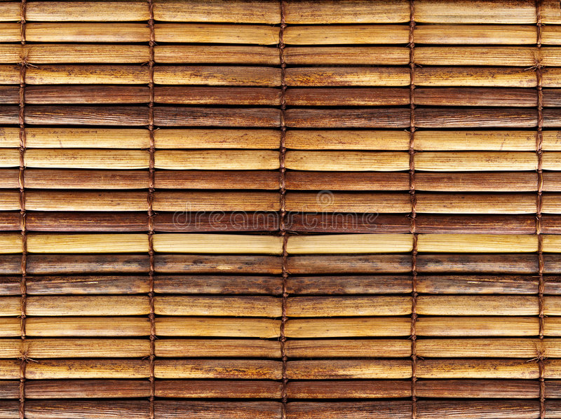 Bamboo blinds. Texture of old bamboo blinds royalty free stock photo