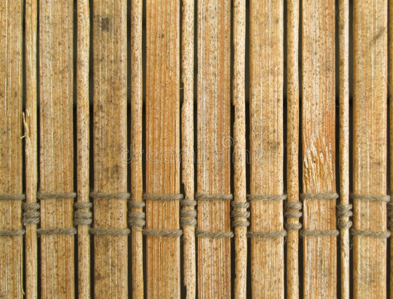 Bamboo blinds. Close up of bamboo blind pattern - abstract background texture stock image