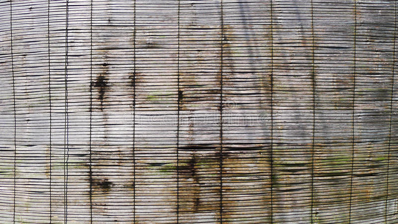 Bamboo blinds. Hanging on the window,at Koh chang, Trat province,Thailand royalty free stock photography