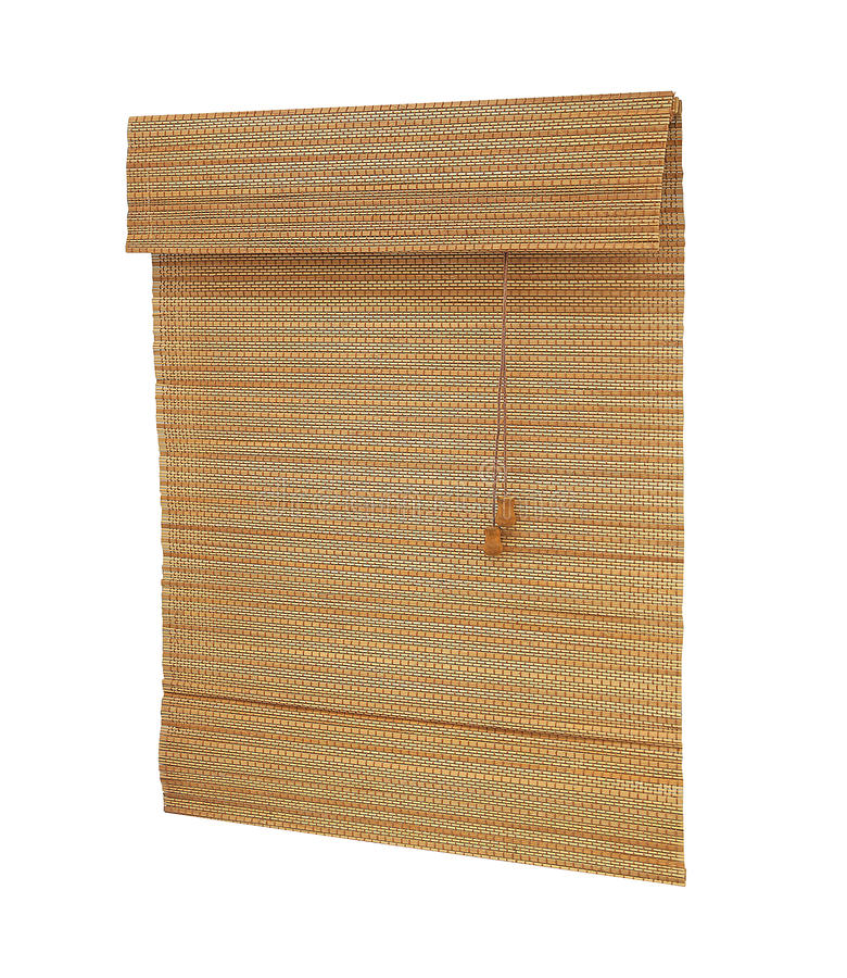 Bamboo blinds. Interior bamboo blinds asia style stock photos