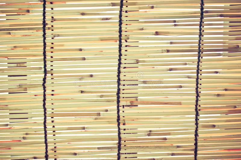 Bamboo blinds. The small blind made ​​of bamboo royalty free stock photography