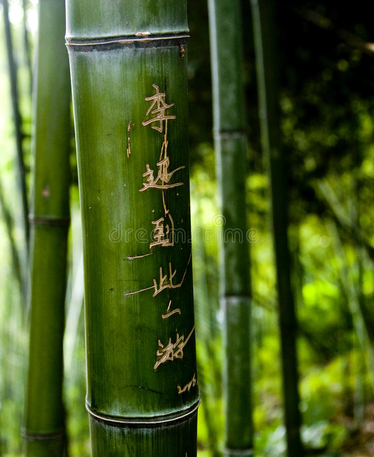 Bamboo Carvings stock images