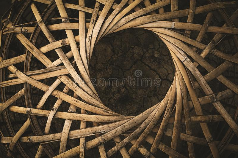 Bamboo chicken coop thai style stock images