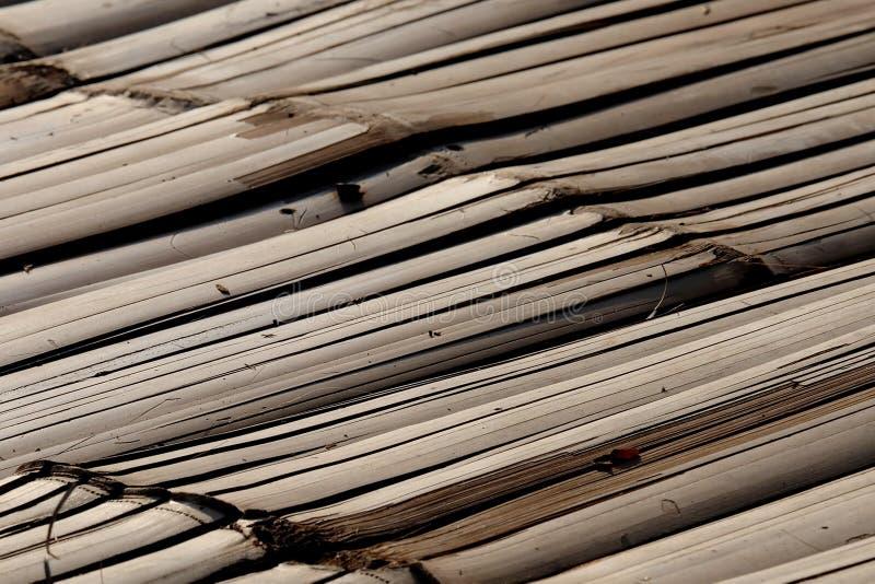 Bamboo raft flooring stock photography