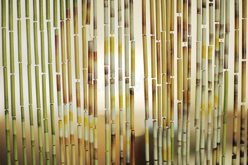 Bamboo curtain background. Detail. Closeup, shallow DOF royalty free stock images