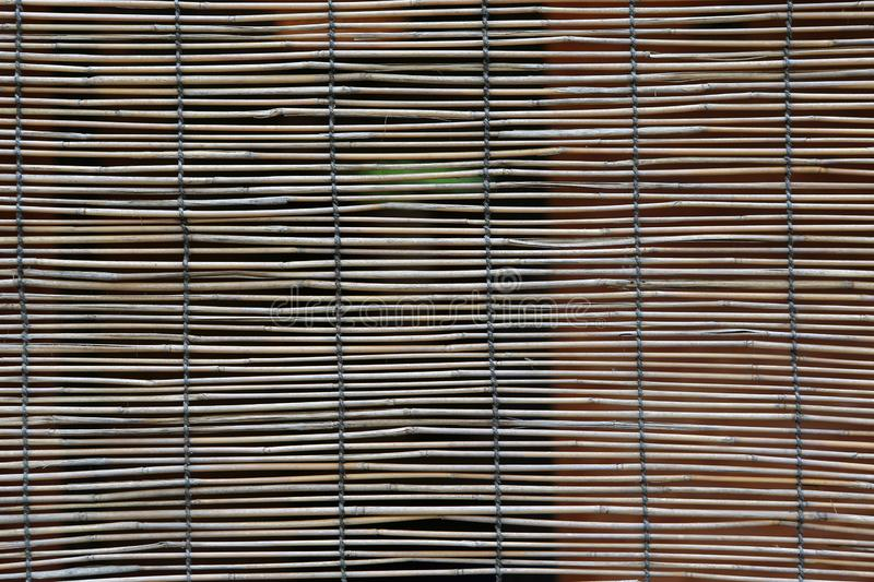 A Bamboo curtain for a background stock image