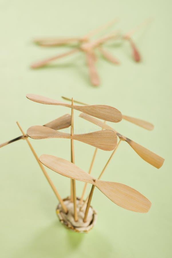 Bamboo dragonfly stock photos