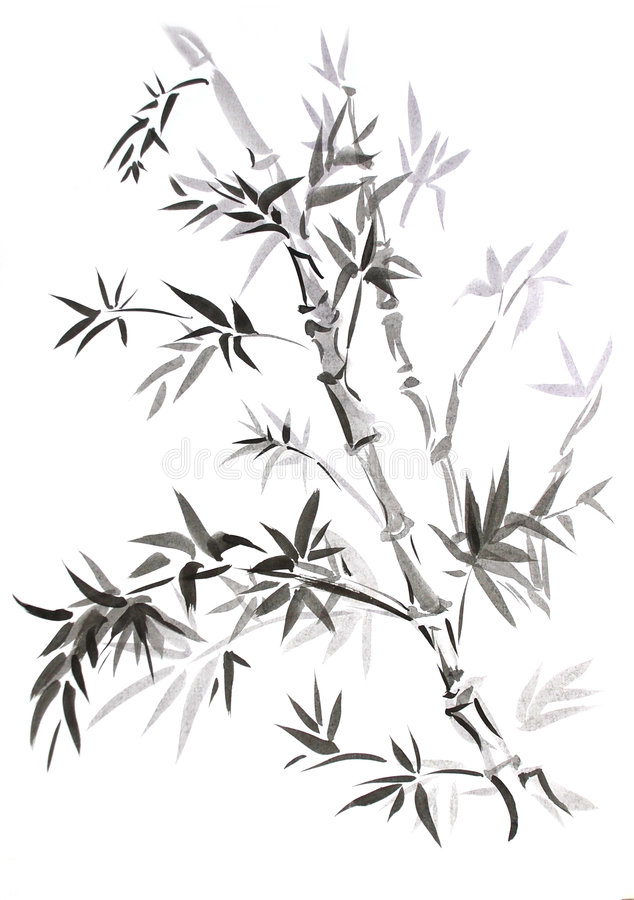 Download Bamboo, Drawn In East Style Stock Illustration - Image: 8714315