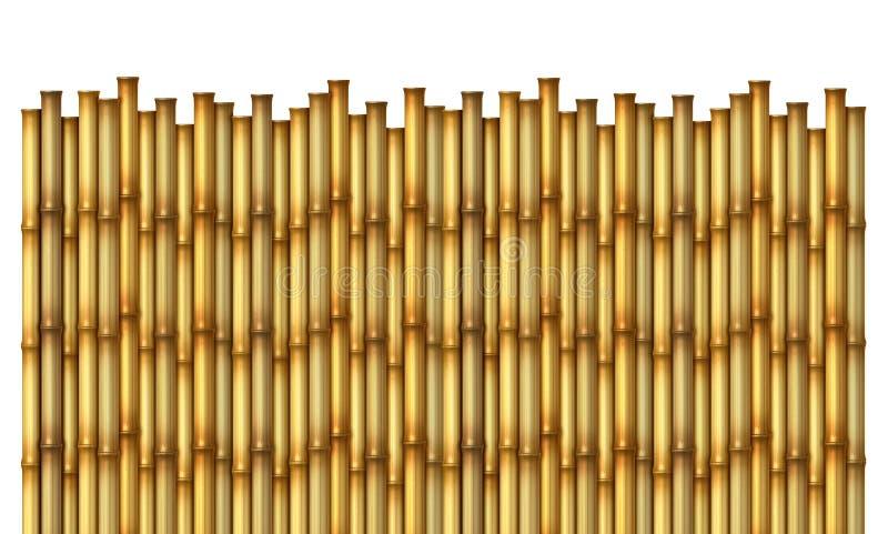 Bamboo Fence stock illustration
