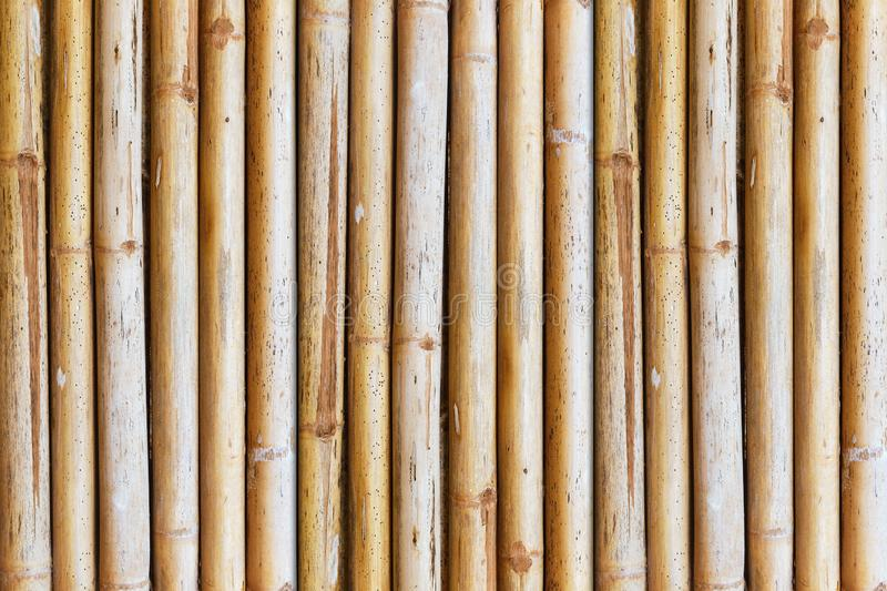 Bamboo fence. Close up of bamboo fence background, tree, stick, bundle, decoration, square, bark, natural, oriental, tropical, chinese, brown, organic, line stock photo
