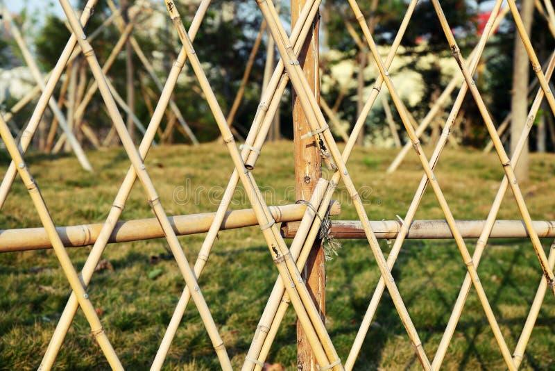 bamboo garden fence royalty free stock photography