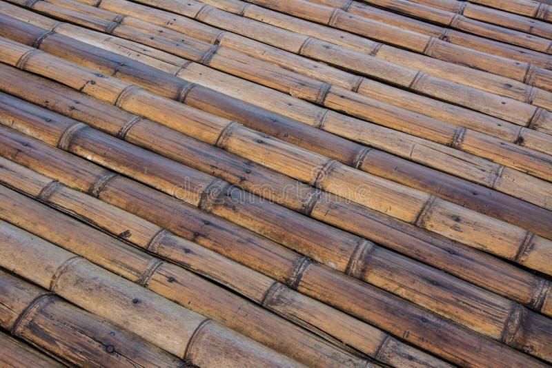 Bamboo floor royalty free stock photography