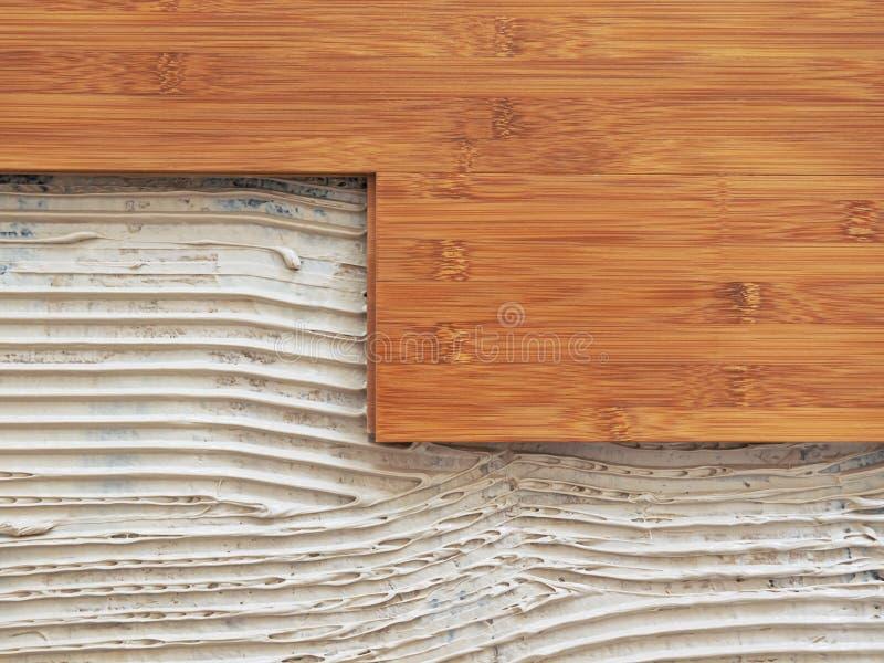 Bamboo flooring stock image